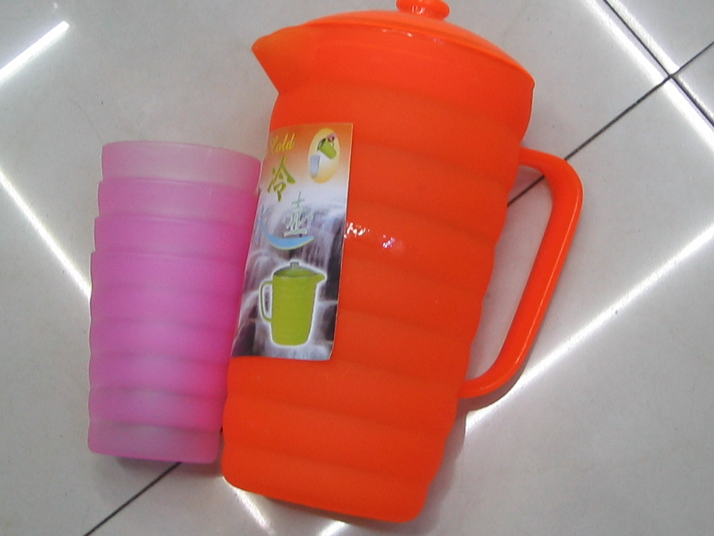 water mug + 4 cups colour