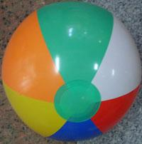 inflated colored balls 14'