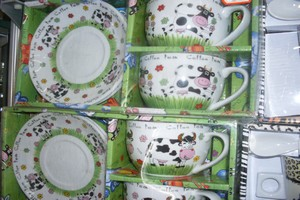 cup&plate cow