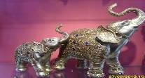 elephant decoration old silver color