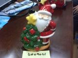 "Santa 6"" Votive Placing Star on Tree"