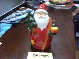 "Santa 6"" Votive With Staff and Lantern"