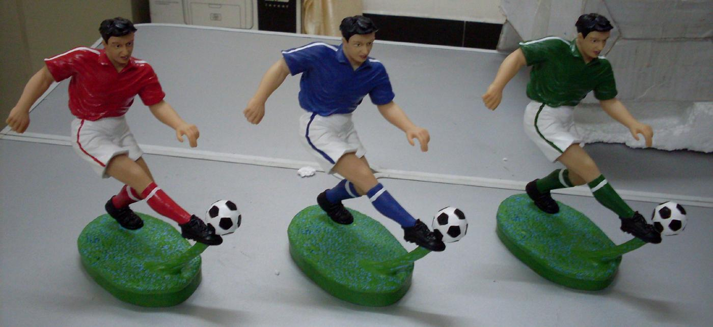 Poly resin football player blue