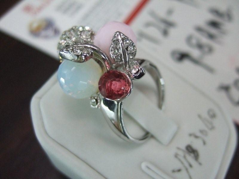 rhinestone ball and bead ring